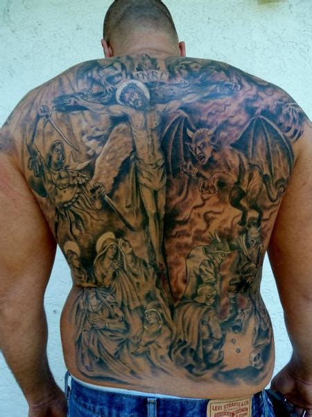 full back cross tattoos 50 amazing back tattoos