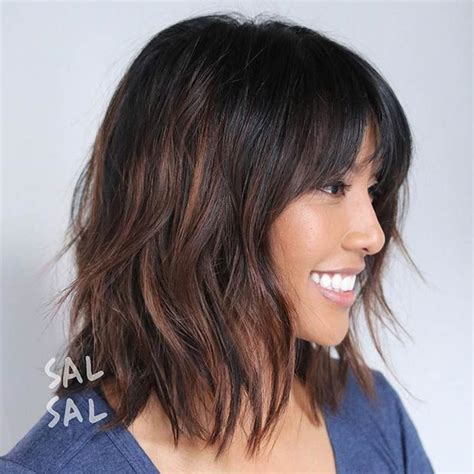 lob cut with bangs 1000 images about stayglam hairstyles on pinterest