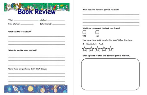 printable elementary book report template mfacourses887
