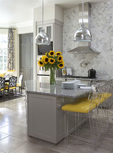 gray and yellow kitchen gray and green bedrooms transitional bedroom