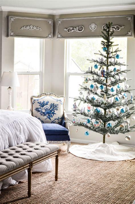 tree in bedroom master bedroom coastal christmas tree hop slightly coastal
