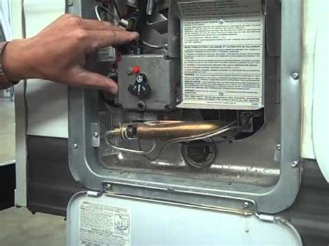 travel trailer pdi propane water heater