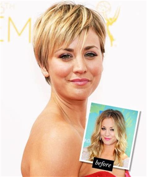 penny cut her hair big bang theory kaley cuoco and bangs on pinterest