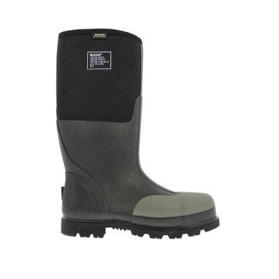 mens rubber boots size 14 bogs forge steel toe 16 in size 14 black waterproof