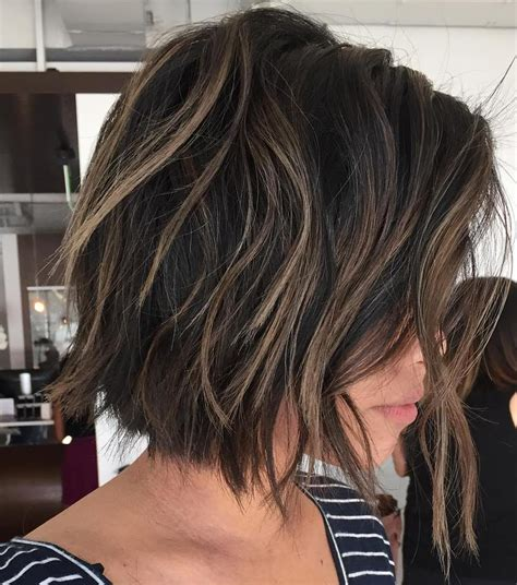 choppy nape length bob with long layers framing my face 50 best bob hairstyles for 2017 cute medium bob haircuts