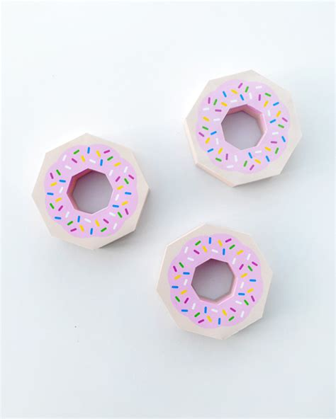 donut card template giftwrap paper donut minieco