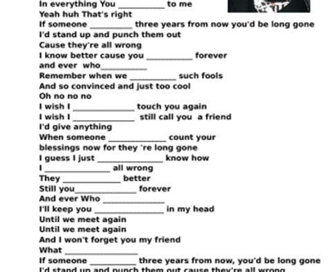 s day song esl song worksheet who by pink