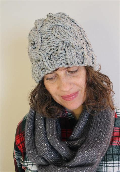 free knitting patterns for chunky wool hats chunky cable knit hat with free pattern sew diy