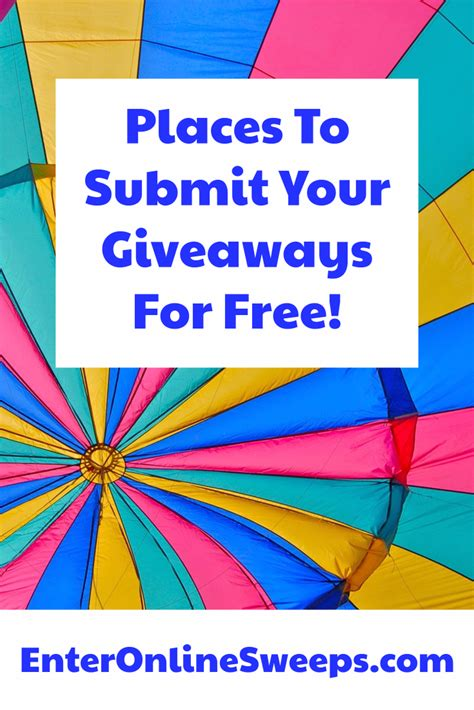 Submit Sweepstakes Free - submit your sweepstakes contests to several directories for free traffic work in