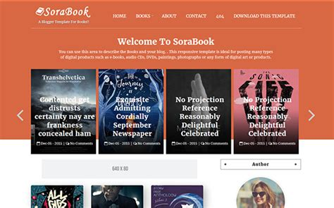 templates blogspot books sora book blogger template high quality free blogger