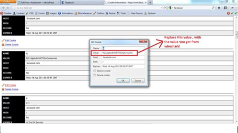 wireshark tutorial cookie tutorial hack facebook accounts on the same lan