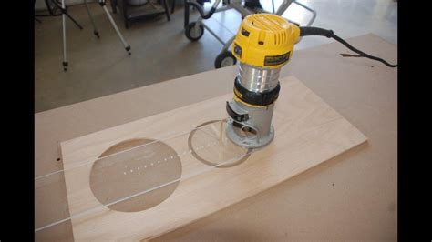 build  circle cutting jig   router