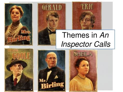 an inspector calls gerald themes 15th june themes in an inspector calls revision