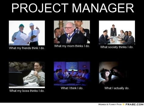 Meme Project Manager - what people think a project manager do what people