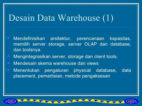 metode desain database kel2 data warehouse