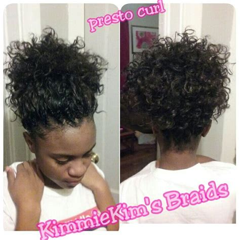 Crochet Ponytail Hairstyles | crochet freetress presto curl in a simple ponytail