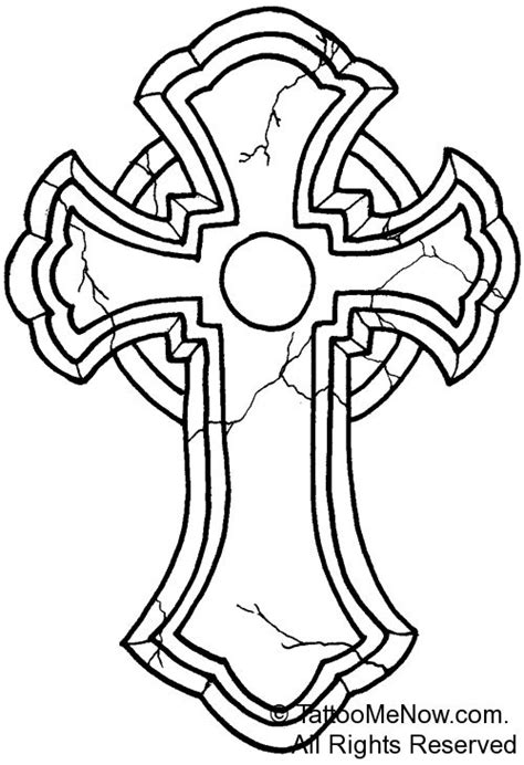 tattoo cross outline 1000 ideas about simple cross on