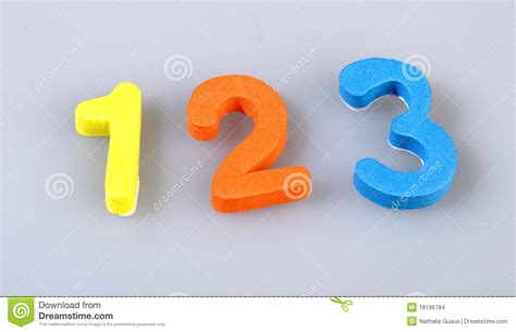 number sts rubber numbers of foam stock images image 18196784