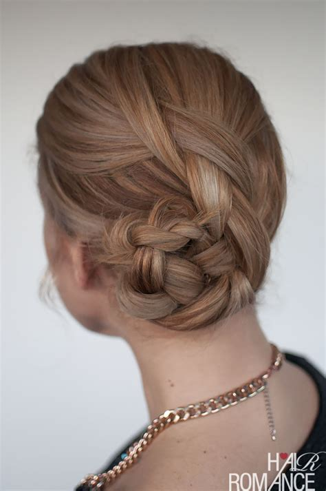 easy hairstyles with braids easy braided bun hairstyle tutorial hair romance