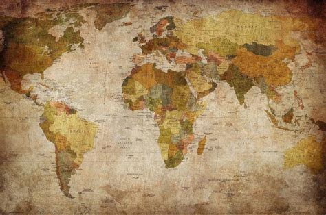 map of the world wall mural vintage world map wall mural