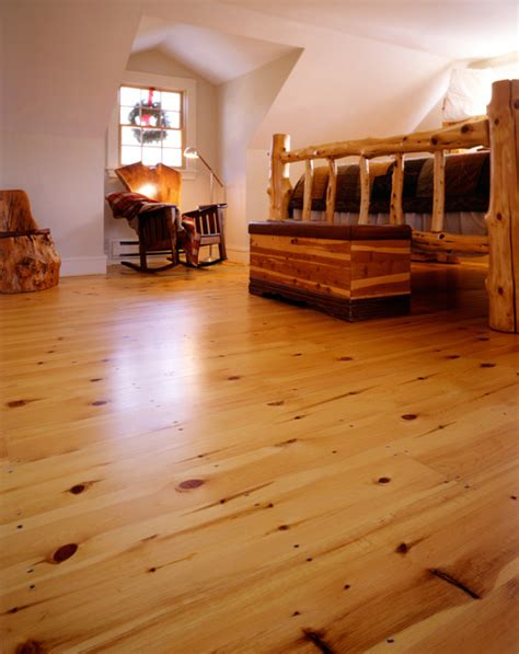 Reclaimed Wood Vs New Wood new england red pine wide plank flooring craftsman