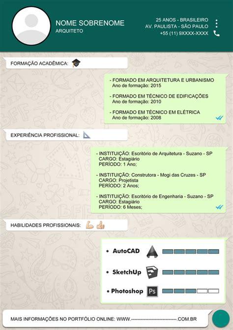 Resume Samples Creative by Os Melhores Curr 237 Culos De Arquitetura Enviados Por Nossos