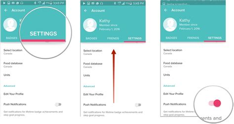 turn push notifications android how to manage your fitbit account for android android central