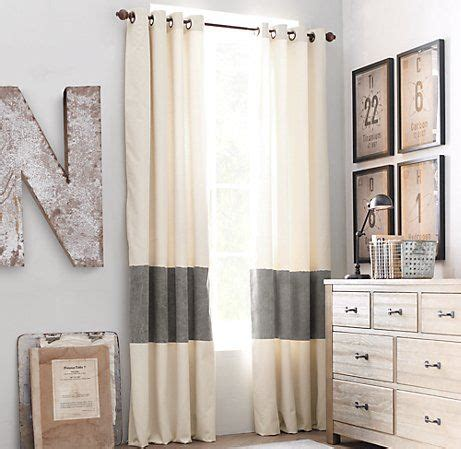 diy color block curtains color block curtains just cut add fabric in the