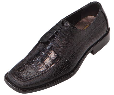 wide mens dress shoes bolano mens wide width black faux croco embossed oxford