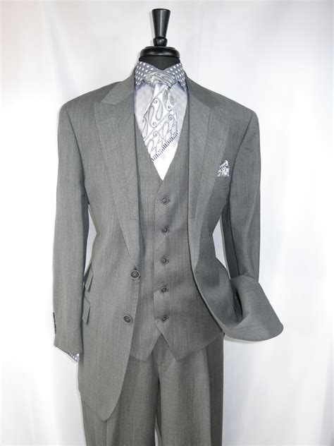 light gray vested suit apollo king st008 quot light grey quot vested s suit with high