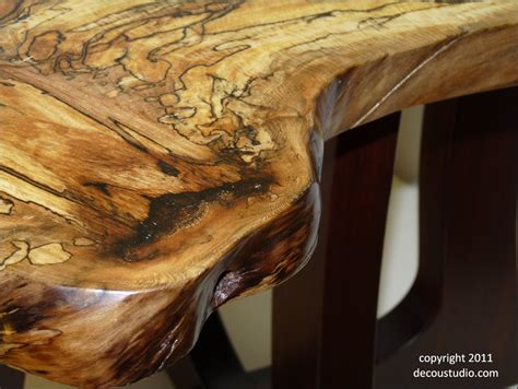 sycamore woodworking nakashima inspired end table spalted sycamore live