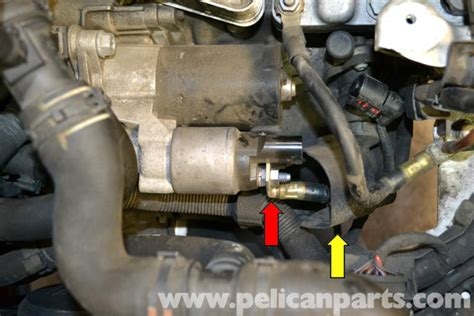 small engine maintenance and repair 2006 volkswagen gti seat position control volkswagen golf gti mk v starter replacement 2006 2009 pelican parts diy maintenance article