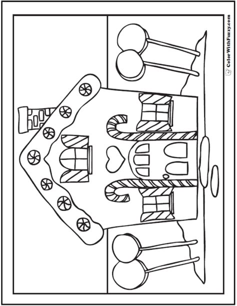 easy gingerbread house coloring pages christmas coloring pictures