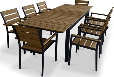 9 patio dining set furnishing 9 polywood outdoor patio dining set