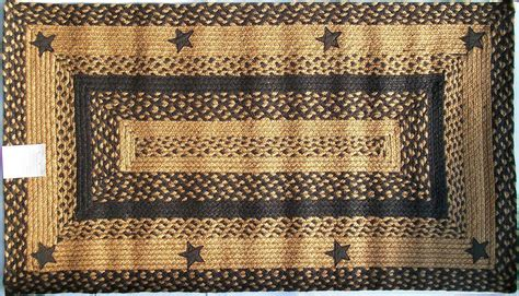 Primitive Country Area Rugs Ihf Applique Black Braided Jute Rug Rustic Primitive Country Home Decor Ebay