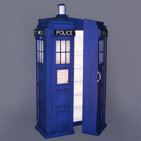 tardis shelving system the doctor s library technabob