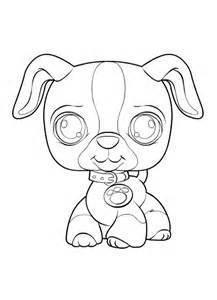 petshop hondje colouring pages