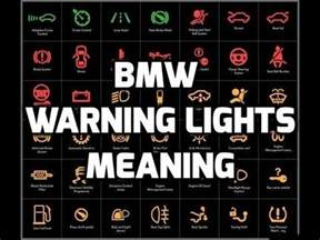 lights meaning bmw warning lights meaning