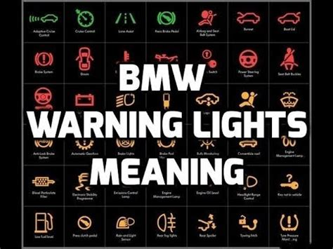 Bmw Warning Lights Meaning