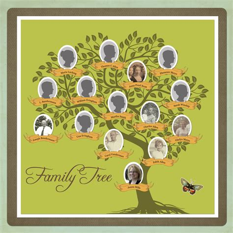 scrapbook family tree template
