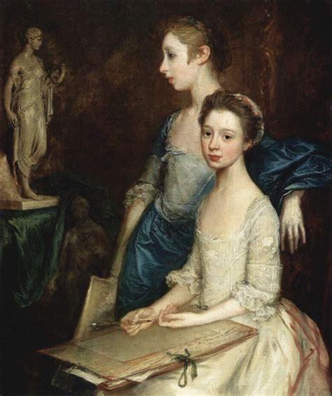 gainsborough a portrait portrait of the molly and peggy thomas gainsborough wikiart org encyclopedia of visual arts