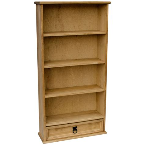 corona 1 drawer dvd rack bookcase mexican solid pine wood