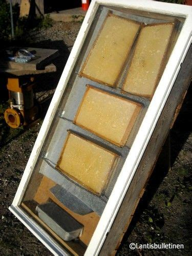 solar wax melter the hive a home built solar beeswax melter made of wood boards an