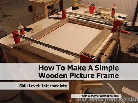how to make a simple wooden picture frame