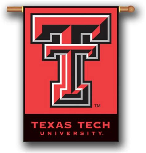 texas red house texas tech red raiders 2 sided 28 quot x 40 quot house banner flag w pole sleeve college ncaa