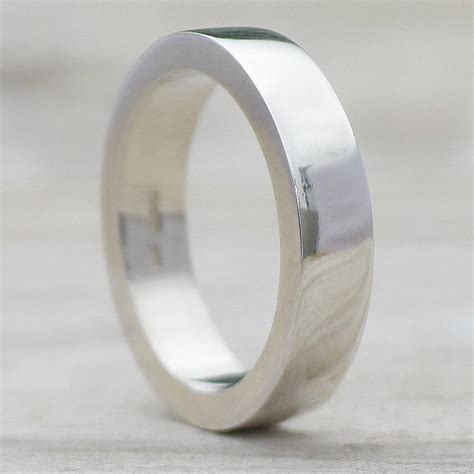 mens chunky silver ring by lilia nash jewellery