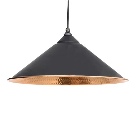 Hammered Copper Pendant Lights Black Hammered Copper Yardley Pendant Light Period Home Style