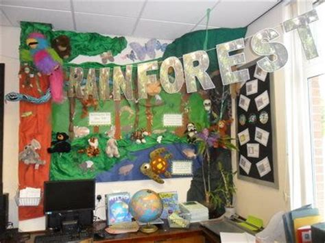 ipc themes ks2 rainforest jungle and rainforest classroom display