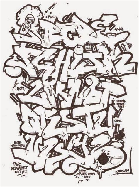 ide tulisan grafiti huruf abjad abjad keren mopppy