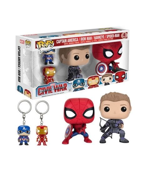 Funko Iron Civil War funko pop marvel captain america 3 civil war set jusgift